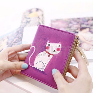 Dark Pink Cat Wallet - Enumu