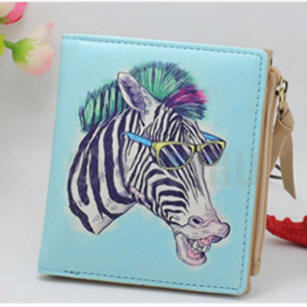 Light Blue Fun Horse Wallet - Enumu  - 1