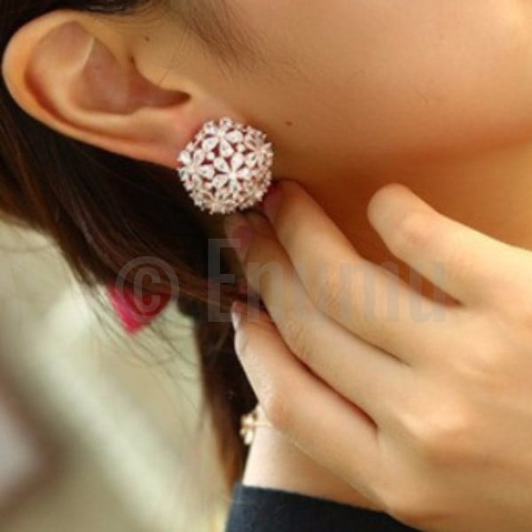 Super Big Flower Earrings and Pendant set - Enumu