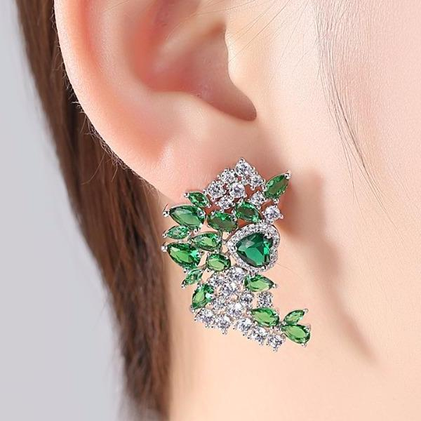 Huge Emerald Zircon Studs - Enumu