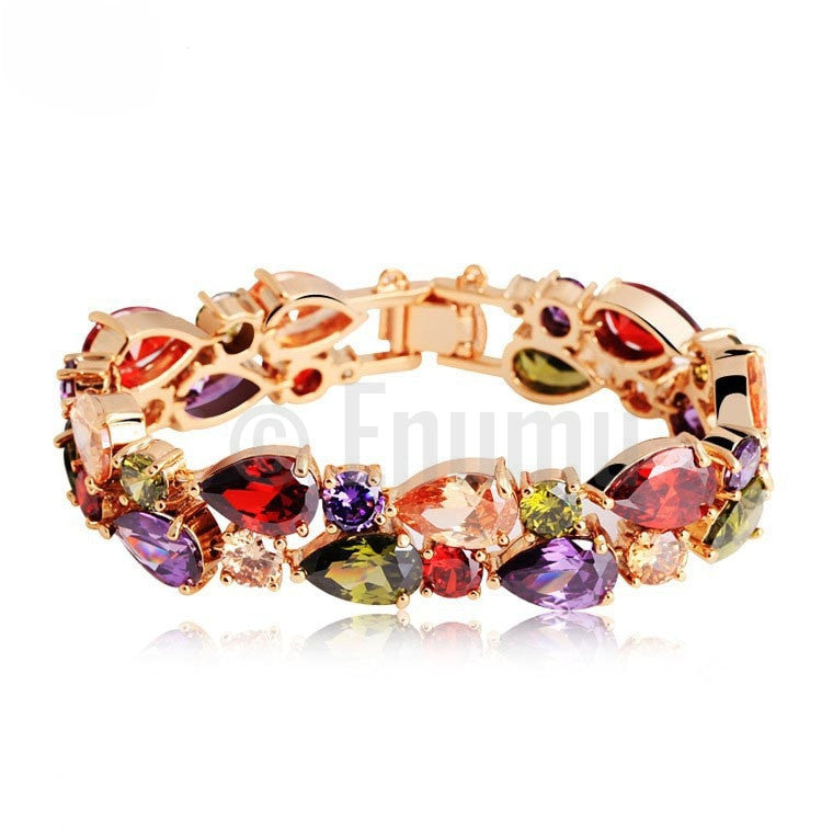 Multi Color Grand wedding Bracelet - Enumu  - 1
