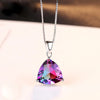 Sterling Silver Rainbow Fire Mystic Topaz Necklace