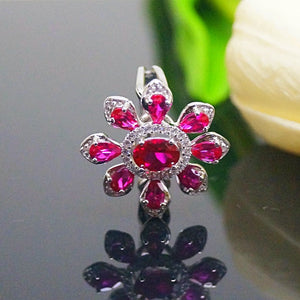 Sterling Silver Pure 92.5 Ruby Ring - Enumu