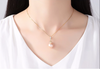 Sterling Silver Natural Irregular Pearl Pendant with Chain