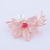 RGP Flower Brooch or Saree Pin