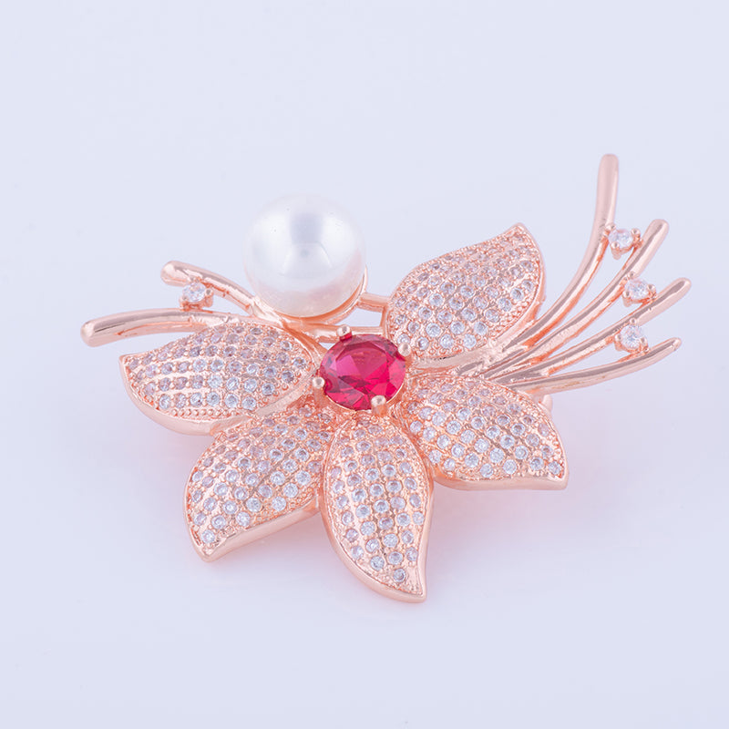 RGP Flower Brooch or Saree Pin - Enumu