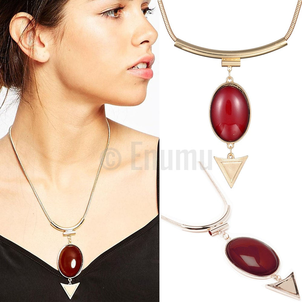 Huge Red Pendant with Chain - Enumu  - 1