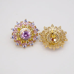Tourmaline and Citrine Studs/ Earrings - Enumu