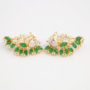 Big Emerald Studs / Earrings - Enumu