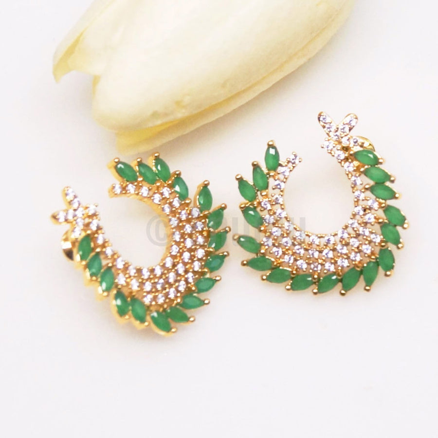 Emerald Studs / Earrings - Enumu