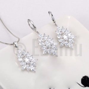 Swiss Zircon Necklace Set - Enumu