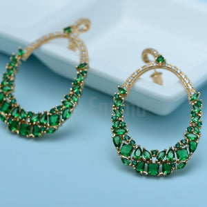 YGP Emerald Dangle Earrings - Enumu