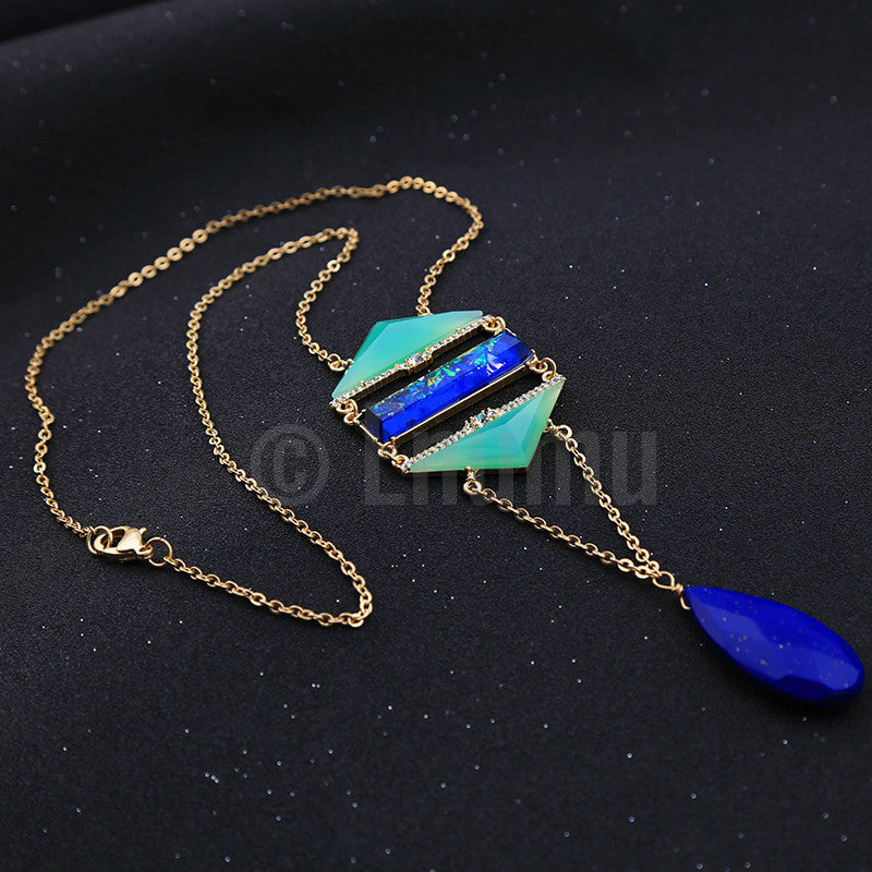Green and Blue Necklace - Enumu