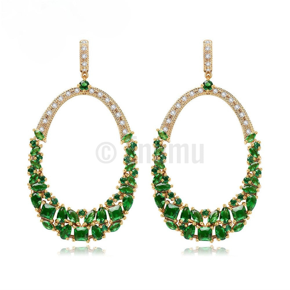YGP Emerald Dangle Earrings - Enumu  - 1