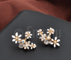 White Flower Studs/ Earrings - Enumu  - 3