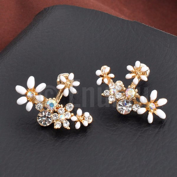 White Flower Studs/ Earrings - Enumu  - 1