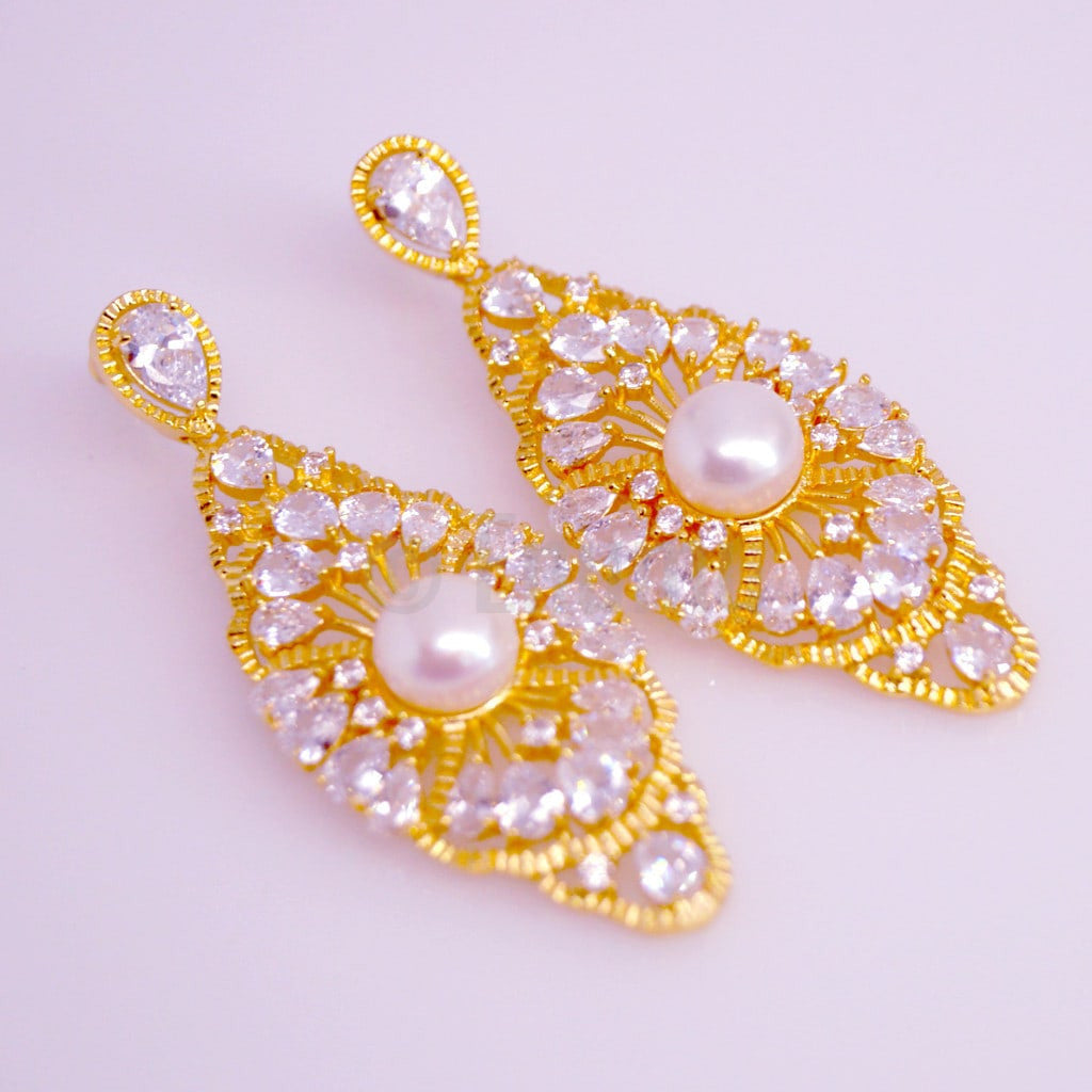 YGP Swiss CZ and Pearl Earrings - Enumu  - 12