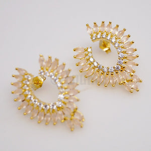 Big Opal Leaves Studs - Enumu