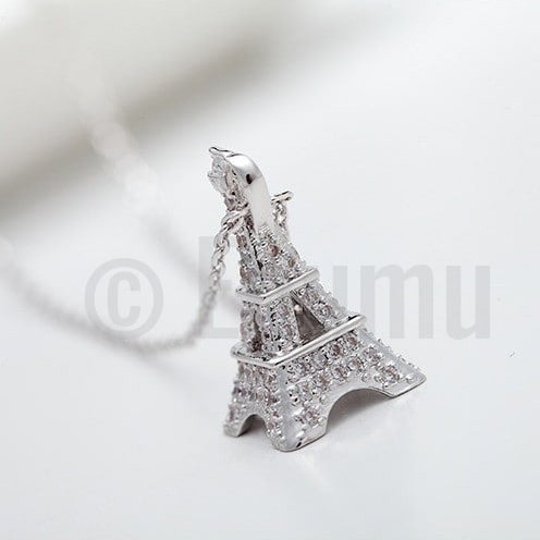 Paris Eiffel Tower Pendant with chain - Enumu  - 1