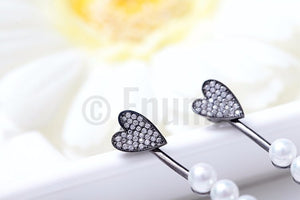 BGP Lovestruck Heart and Arrow Pearl Earrings - Enumu