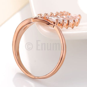 Designer CZ One line Ring - Enumu