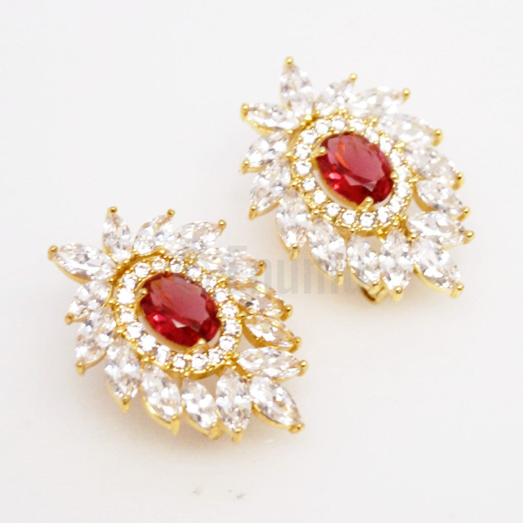 Super Big YGP Ruby Studs - Enumu  - 1