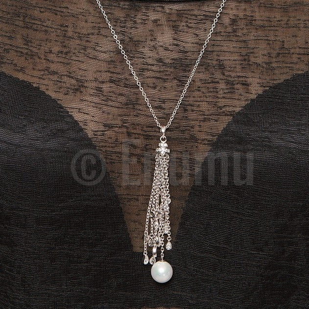 Super Long Pearl Necklace with Chain - Enumu  - 1