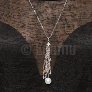 Super Long Pearl Pendant with Chain - Enumu