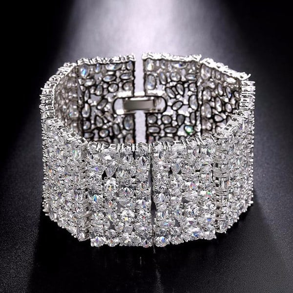 Broad Wedding Diamond bracelet - Enumu