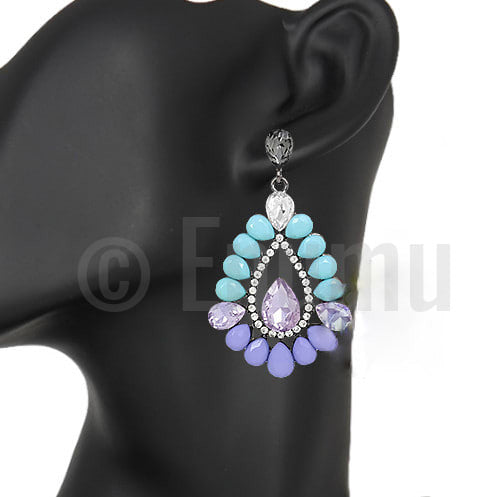 Super Big Purple Dangle Earrings - Enumu  - 1