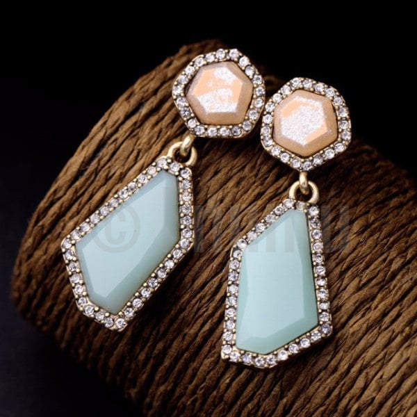 Ice Shine Stone Dangle Earrings - Enumu  - 1