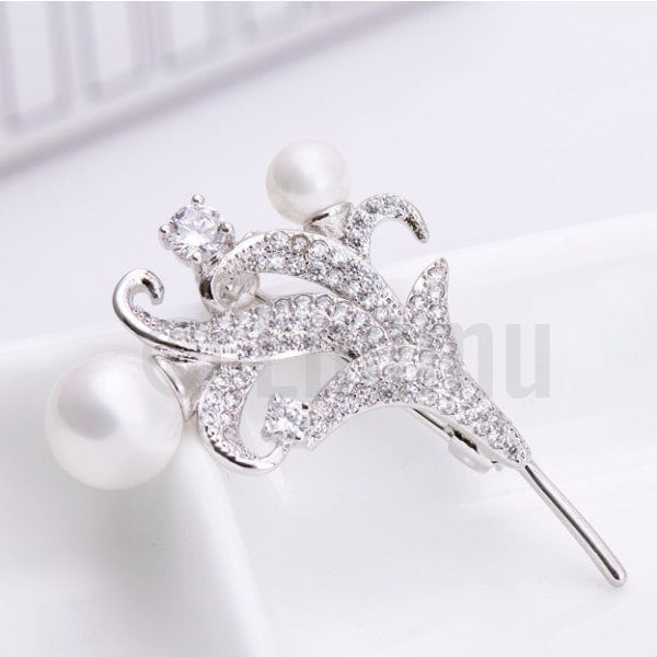 Lilly and Pearl Brooch - Enumu  - 1