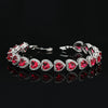 Ruby Heart Diamond Imitation Bracelet