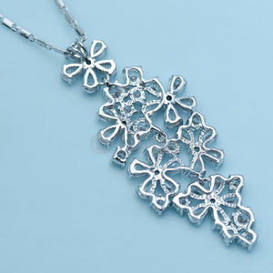 Flower Bouquet Pendant with Chain - Enumu