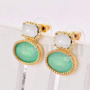 White and Green Studs - Enumu