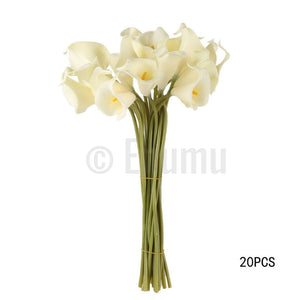 10 Pcs White Calla Lilies Artificial Flowers - Enumu