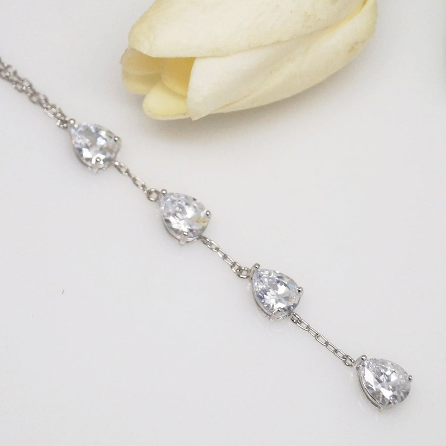 Swiss Zircon Long Pendant with Chain - Enumu