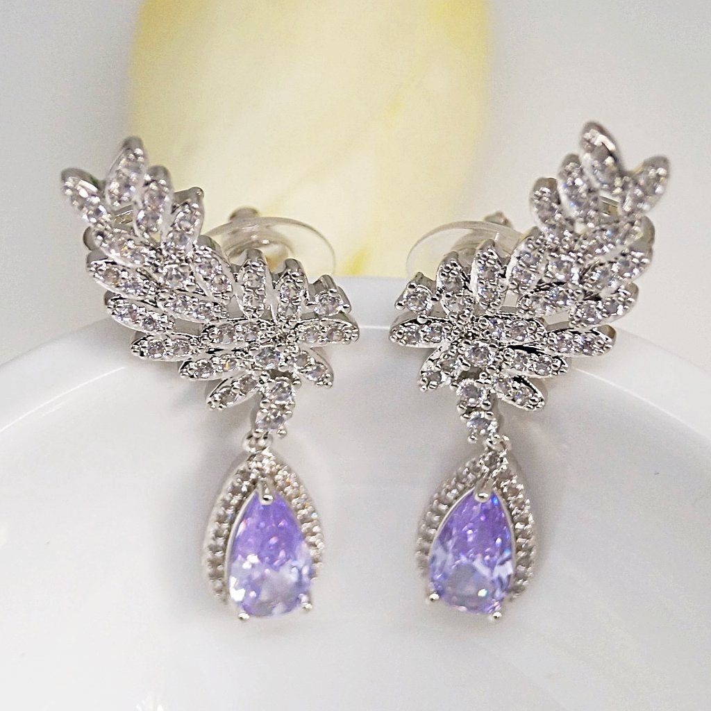 Amethyst Cuffs / Dangle Earrings - Enumu