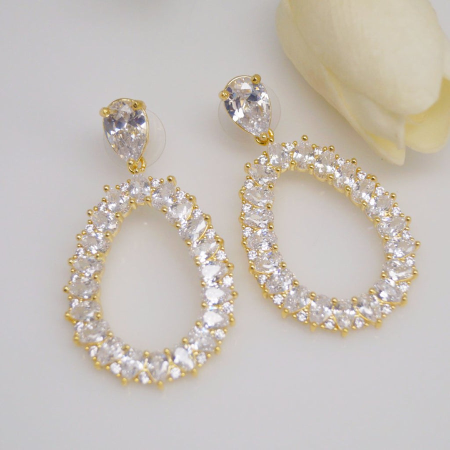 YGP Swiss Zircon Dangle Earrings - Enumu
