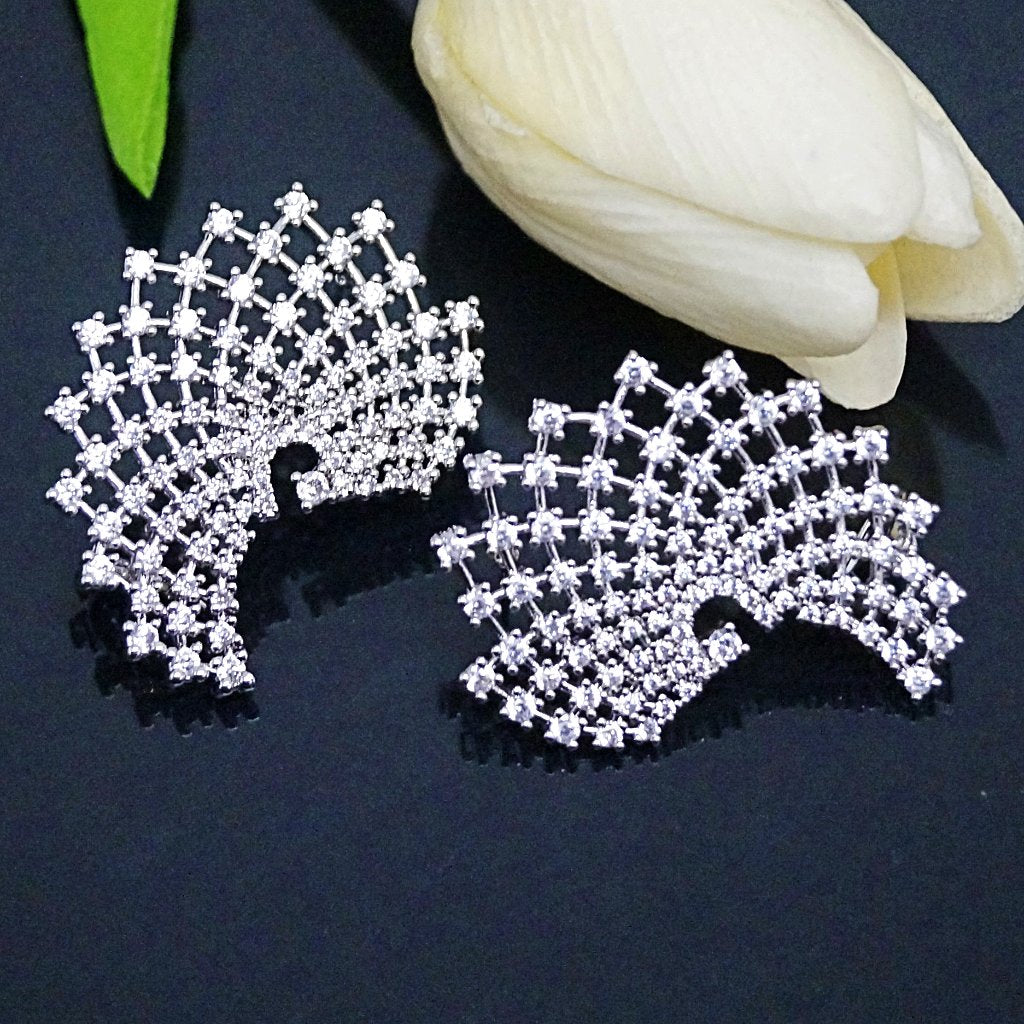 Swiss Zircon Studs / Ear Cuffs