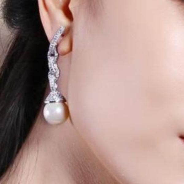 YGP Big Pearl Dangle Earrings - Enumu