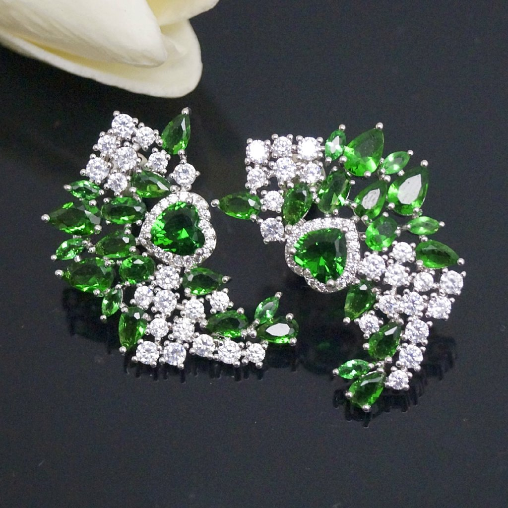 Huge Emerald Zircon Studs