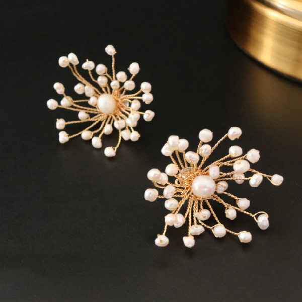 Sterling Silver Pearl Clip on Studs - Enumu