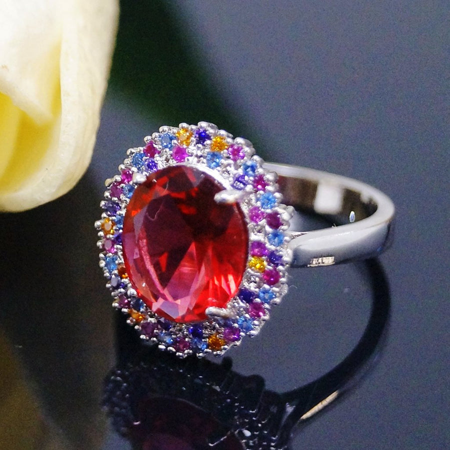 Ruby Multi Color Ring - Enumu