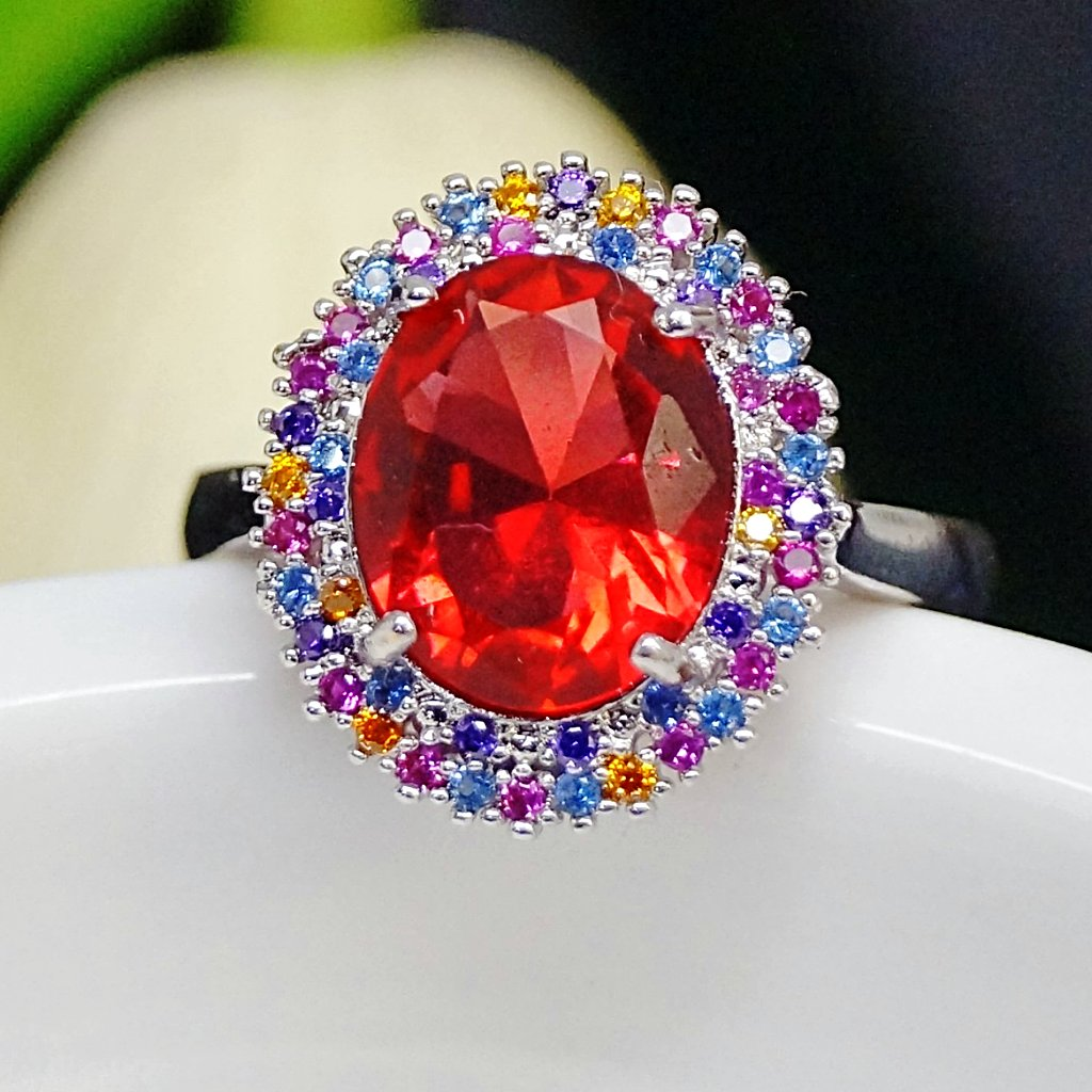 Ruby Multi Color Ring