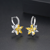 Yellow Flower Drop Earrings