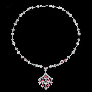 Ruby Swiss Zircon Necklace - Enumu