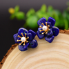 Handmade Pure 92.5 Sterling Silver Natural Lapis Lazuli Studs