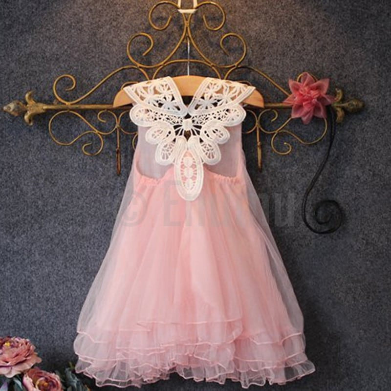 Light Pink Lace Dress - Enumu