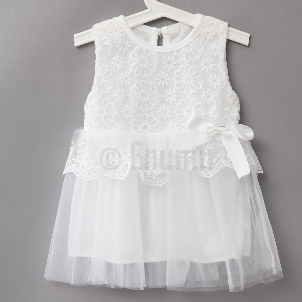 White Sleeveless Dress - Enumu  - 1